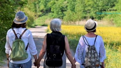 Women holding hands for menopause blog Julie Carolan Physio & Pilates